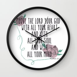 Love the Lord Wall Clock