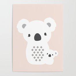 Mom&Baby Koala Poster