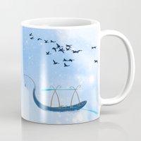 voyage Mugs featuring VOYAGE by Rash Art