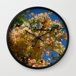 Wilhelmina Tenney Rainbow Shower Tree Wall Clock