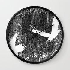 Ecotone (black & white) Wall Clock
