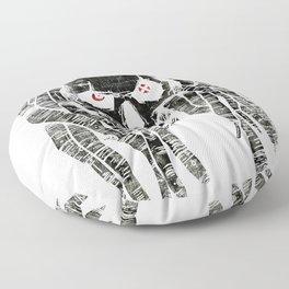 dark skull Floor Pillow
