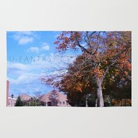 college Area & Throw Rugs featuring College by Vickyyyy