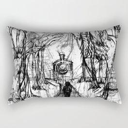 Old Railroad Rectangular Pillow
