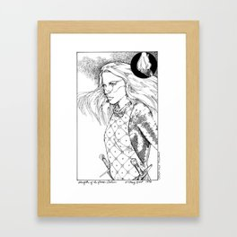 Caitlin, Daughter of Flame Framed Art Print