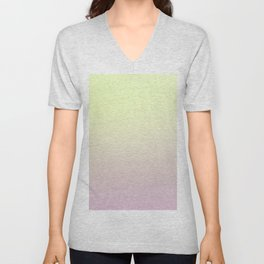FRESH START - Minimal Plain Soft Mood Color Blend Prints Unisex V-Neck