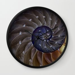 Macro Seashell Wall Clock