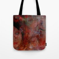 postcard Tote Bags featuring postcard reverie  by abstractgallery