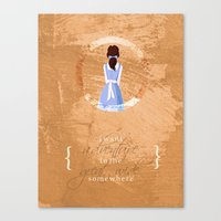 belle Canvas Prints featuring Belle by Camilla Kipp