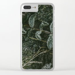 Blueberry frost Clear iPhone Case