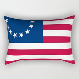 Historical flag of the USA: Betsy ross Rectangular Pillow