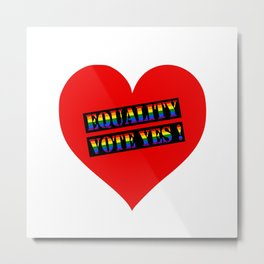 Equality Heart Metal Print