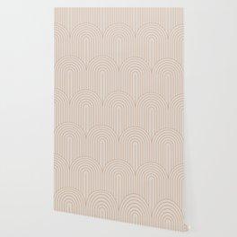 Art Deco Arch Pattern XIV - Light Neutral Wallpaper