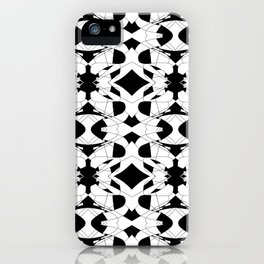 Black and White Tile 2 iPhone Case