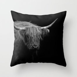 BW Hairy Coo Throw Pillow