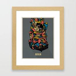 Love Berlin! Framed Art Print