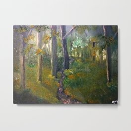 Forest in Oils Metal Print