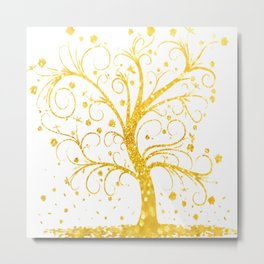 Gold Tree Metal Print