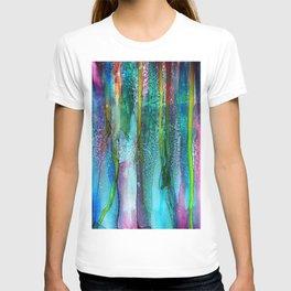 Rainbow Rain - Alcohol Ink Painting T-shirt