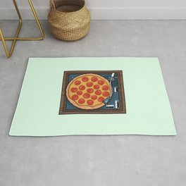 Pizza Record Player Rug