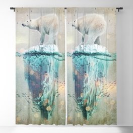 Polar Bear Adrift Blackout Curtain