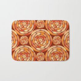 Orange pattern Bath Mat