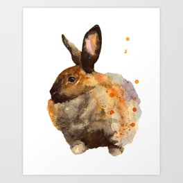 Fluffed Up Art Print
