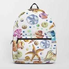 Starfish shell carnival Backpack