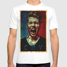 cry poster  Mens Fitted Tee White MEDIUM