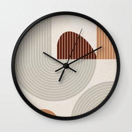 Mid Century Line Art VI Wall Clock