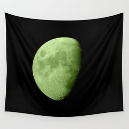 4K Dark Side of the Moon Lime Green Wall Tapestry
