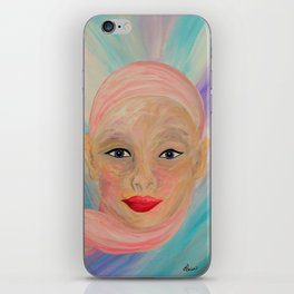 Bald is Beauty with BLUE Eyes iPhone Skin