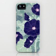 Dark florals iPhone SE Slim Case