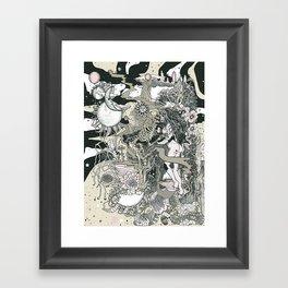 Little Bit Evil Framed Art Print