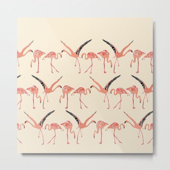 vanilla flamingos Metal Print
