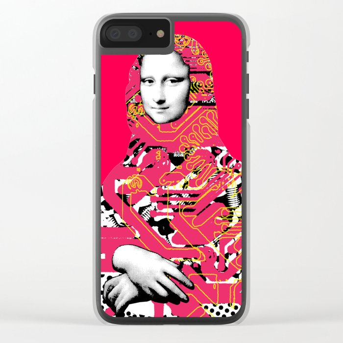 Mona Lisa Platina 5 Clear iPhone Case