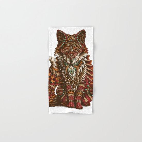 Red Fox (Color Version) Hand & Bath Towel
