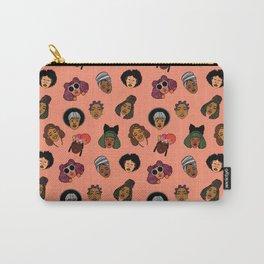 Black Hair Magic (Coral) Carry-All Pouch