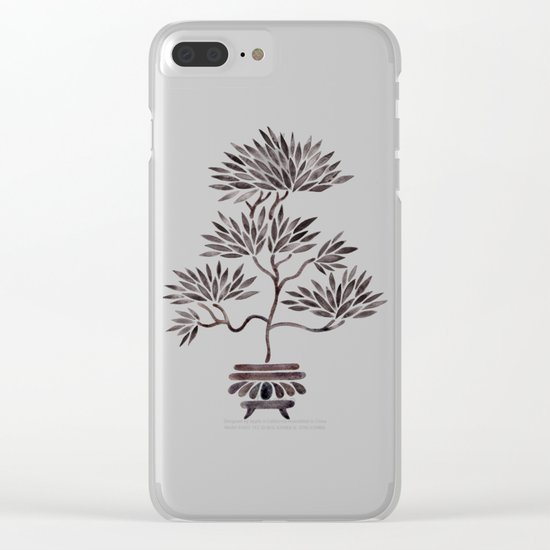 Bonsai Tree – Black Palette Clear iPhone Case
