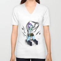 cyberpunk V-neck T-shirts featuring Cyberpunk by GrazilDesign