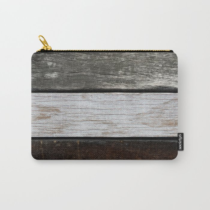 Wood Texture Carry-All Pouch