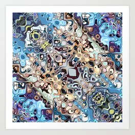 Colorful Chaotic Pattern Art Print
