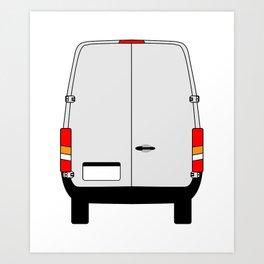 Small Van Back Doors Art Print