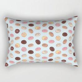 Doughnuts Pattern in Blue Rectangular Pillow