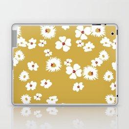 Modern liberty print on mustard ground Laptop & iPad Skin