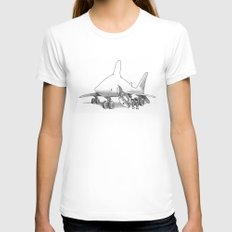 Pilot Fish Womens Fitted Tee White SMALL