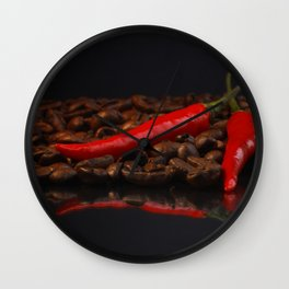 Extremely hot coffee Whitney Chili in contrasts Wall Clock