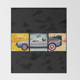 DeLorean DMC-12 - Cinema Classics Throw Blanket