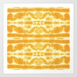 Yellow Tie Dye Twos Art Print