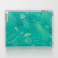 Into the Deep Jellies - Teal Laptop & iPad Skin